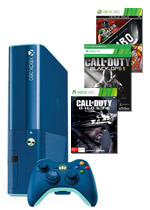 Xbox 360 500GB Limited Edition Blue Console + 3 Games