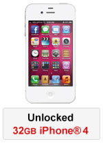 iPhone® 4 32GB Unlocked - White (Refurbished by EB Games)