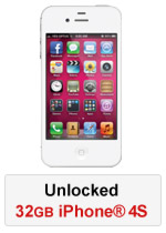 iPhone® 4S 32GB Unlocked - White (Refurbished by EB Games)