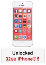 iPhone® 5 32GB Unlocked - White (Refurbished by EB Games)